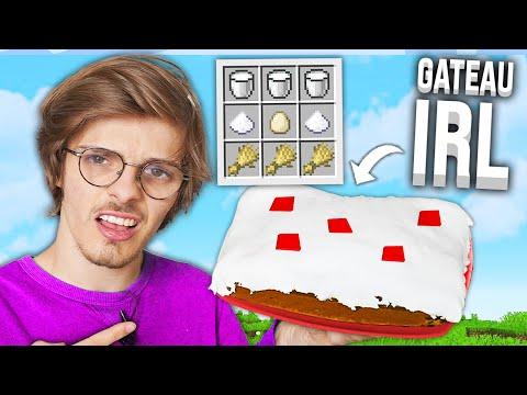 J'ai testé la recette du GATEAU Minecraft en vrai...