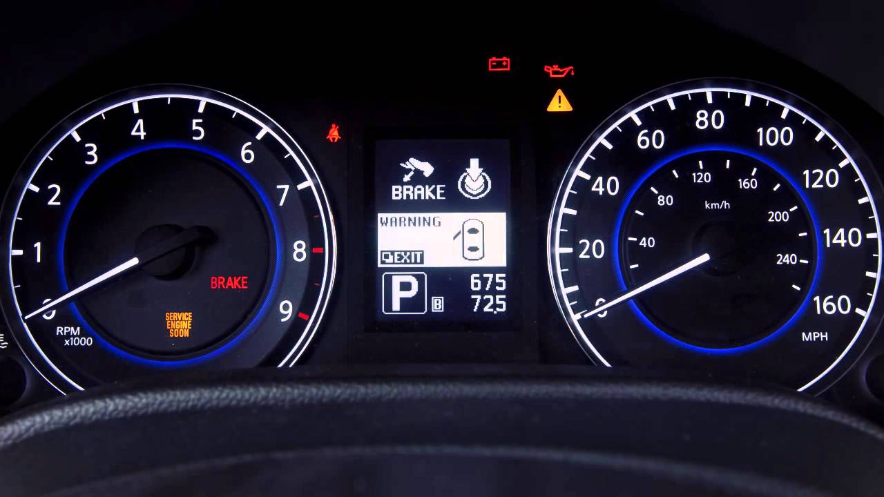 2013 Infiniti G Sedan Warning And Indicator Lights Youtube