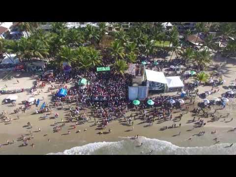 Playa de Cabarete en semana santa el 15 de abril 2017