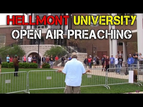 HELLmont (Belmont) University Open Air Preaching | Spring 2015 | Kerrigan Skelly