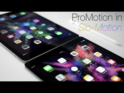 iPad Pro 10.5-inch 120Hz ProMotion In Slow Motion (4K60)
