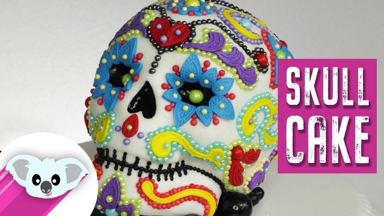 Sugar Skull Cake Dia De Los Muertos Diy How To Youtube