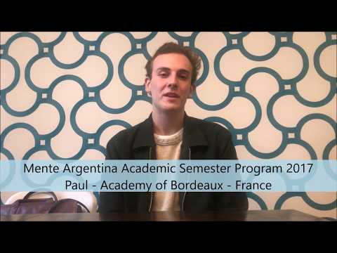 Study Abroad in Buenos Aires, Argentina by Paul - Mente Argentina Semester Program