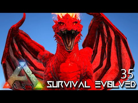 ARK: SURVIVAL EVOLVED - THE ALMIGHTY APEX DRAGON !!! PRIMAL FEAR CENTER MAP E35