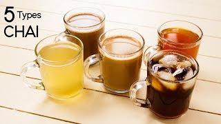 5 Types of Tea - Chocolate, Herbal, Masala Tandoori, Ice, Lemon Chai Recipes - CookingShooking