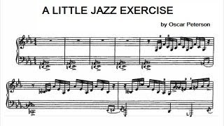 Oscar Peterson - A little jazz exercise (transcription)