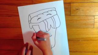 How to draw pizza steve from uncle grandpa
