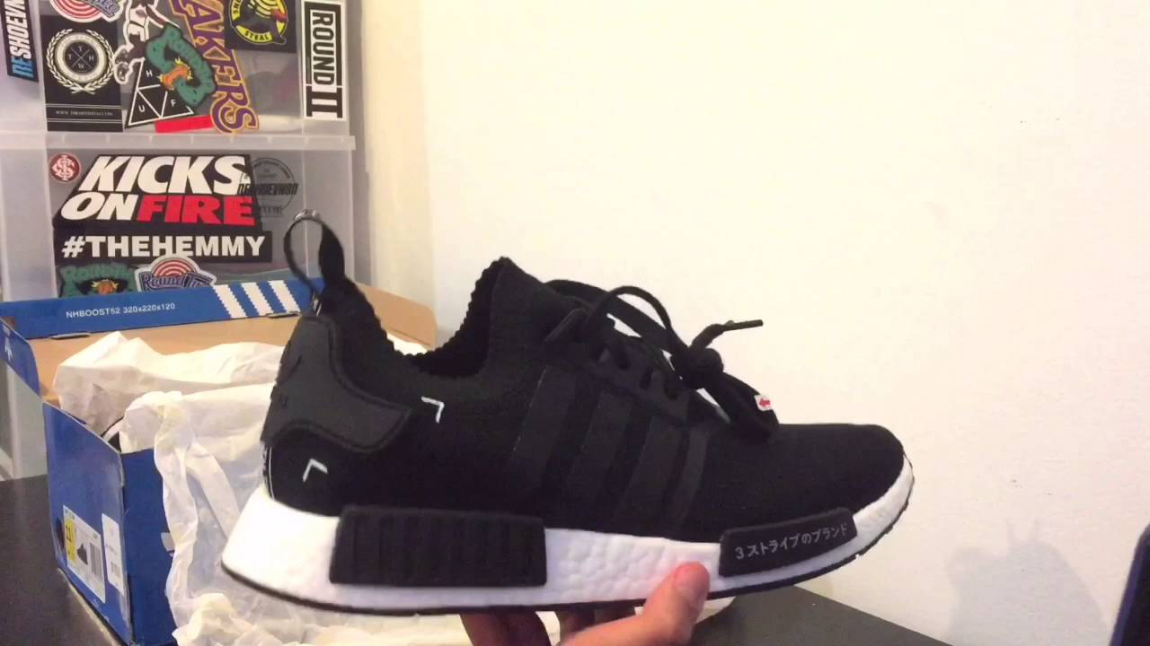 best loved 6924c 61014 Adidas NMD R1 PK  Black Japan  Review - YouTube