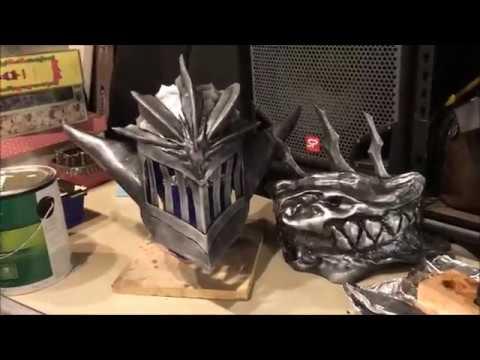 Dark Dragon Knight - Shoulder armor dark metal paint