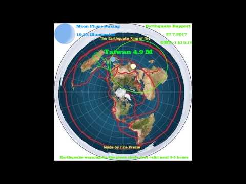Flat Earth Earthquake Rapport 27 7 2017 Taiwan