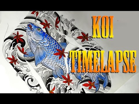 How To Design A Tattoo  Koi Fish Speed Drawing