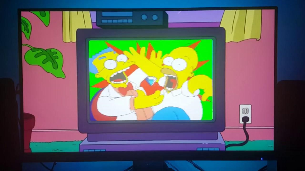 SNES Classic Mini RetroArch Overlay - The Simpsons TV