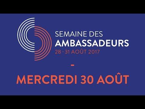 La Semaine des Ambassadeurs 2017 - Mercredi 30 août - Général Denis Mercier - Sigmar Gabriel