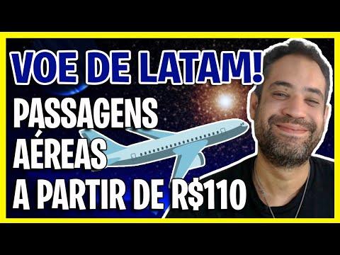 A PARTIR DE R$110! PROMOÇÃO DO DIA LATAM COM CONDIÇÕES ESPECIAIS!