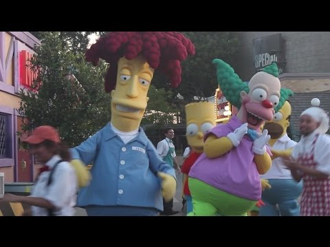 The Simpsons Springfield grand opening ceremony Universal Studios Hollywood