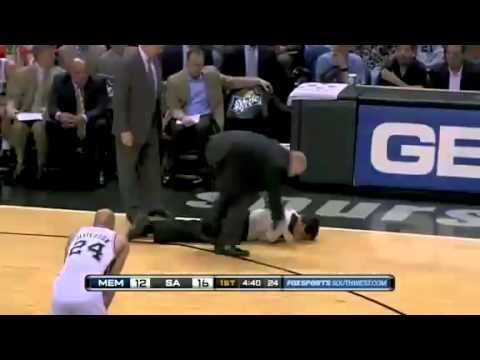 Tony Allen breaks an NBA referee