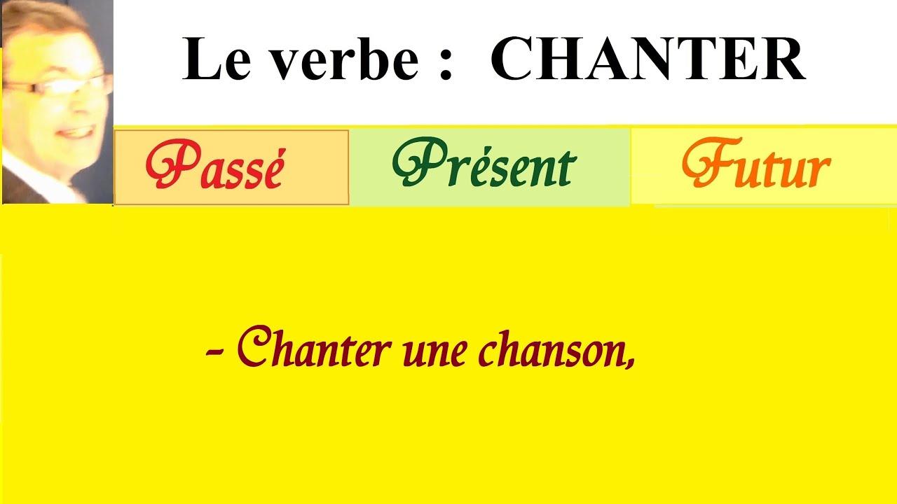 Conjugaison Du Verbe Chanter A L Imparfait Au Present Et Au Futur Youtube