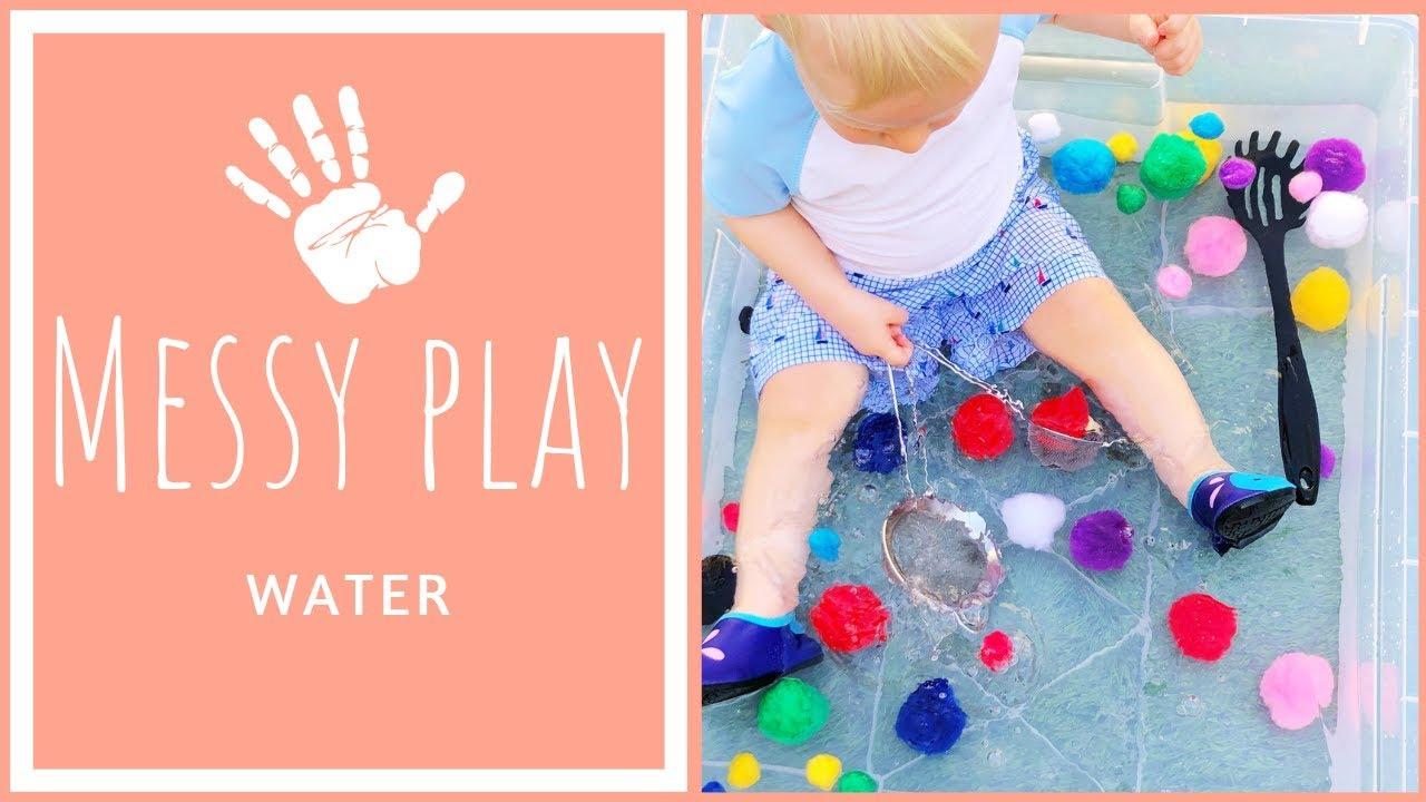 MESSY PLAY with WATER   Sensory Activities for Toddlers