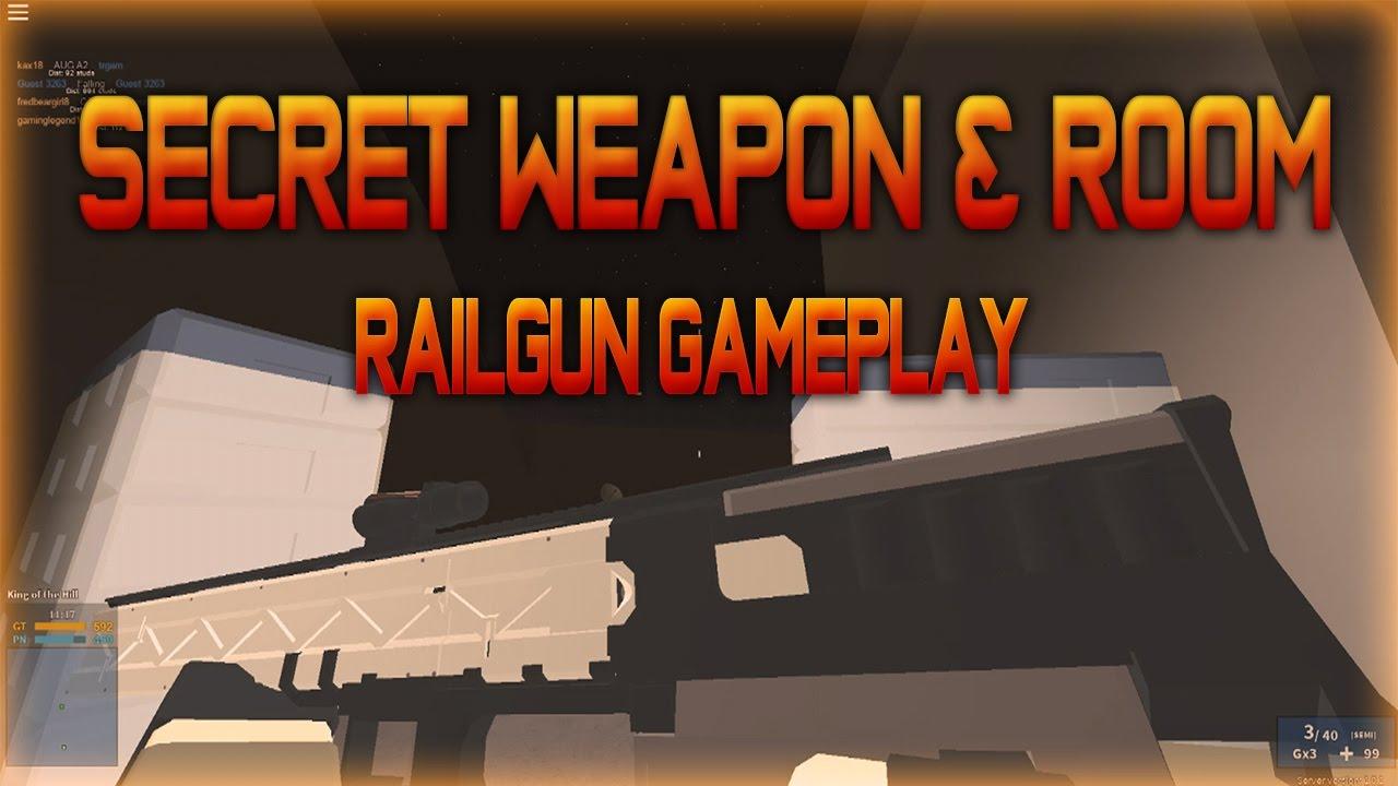 HOW TO GET SECRET CODEX & SECRET WEAPON   Roblox Phantom Forces New Railgun  Gameplay   iBeMaine