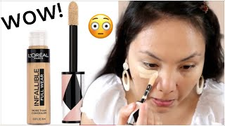 The BEST DRUGSTORE CONCEALER?? MAY NANALO NA! LOREAL INFALLIBLE WEAR TEST! | Nessa Alvaro