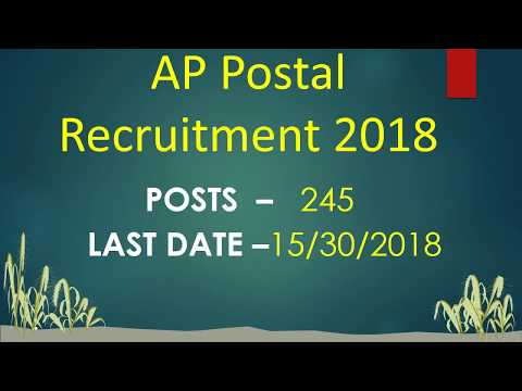 AP POSTAL 2018 NOTIFICATION//JOBS//10TH //