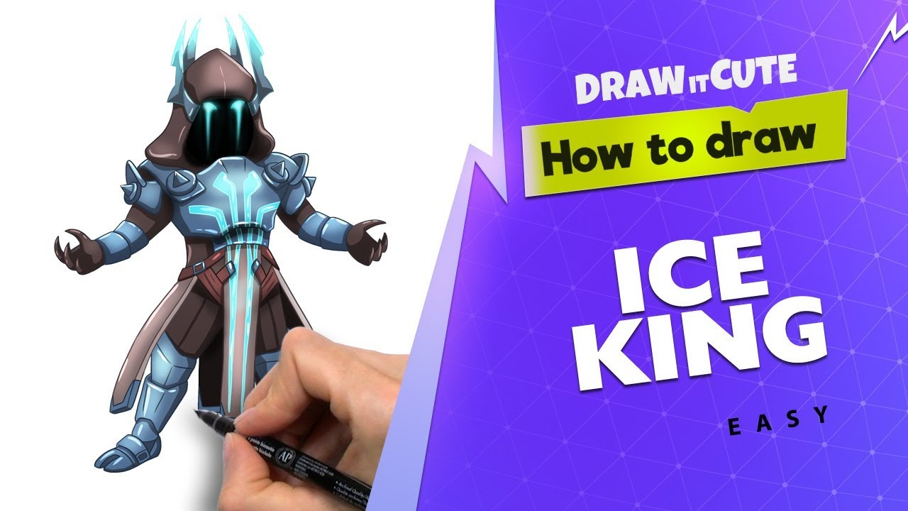 How To Draw Ice King Easy Fortnite Drawing Tutorial Youtube