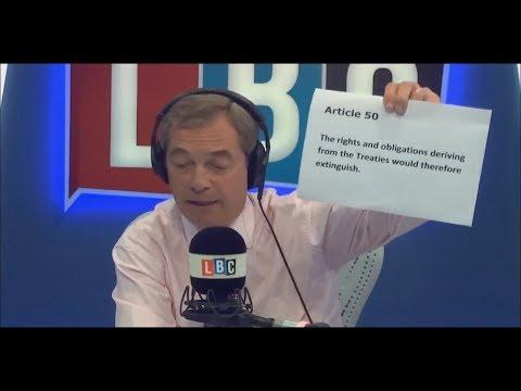 Nigel Farage Asks Should we pay a Brexit Bill to EU