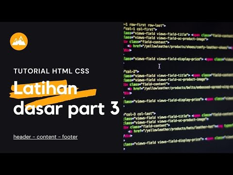 Latihan Dasar HTML Dan Css 3: Desain Header, Menu, Isi, Footer Bahasa Indonesia