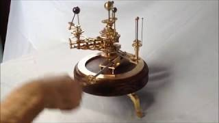 Orrery showing elliptical orbit of Mercury and retrograde motion of Venus