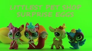 4 Littlest Pet Shop Surprise Eggs ToyCrate LPS Each Egg holds a different lovable pet toy Unboxing