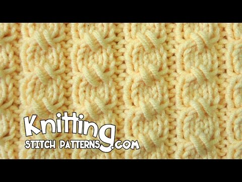 Cross Knit Loop Stitch : Cross Stitch Mock-Cable Rib - YouTube