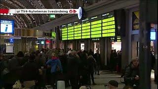 Hundratusentals resenärer drabbade av tågkaos - Nyheterna (TV4)