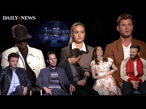 Cast of 'Avengers: Endgame' struggle to answer questions about movie