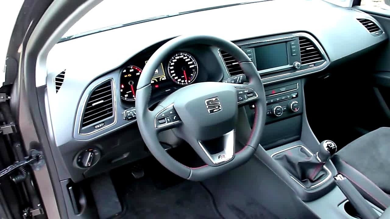 2013 seat leon st 1 4 tsi fr interieur in detail youtube. Black Bedroom Furniture Sets. Home Design Ideas