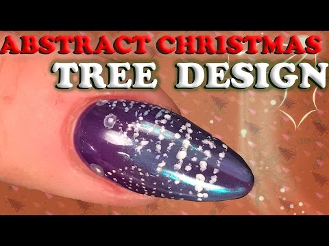 Abstract Christmas Tree Nail Design - Topaz Chrome Pigment - Nail Art Tutorial - Step by Step