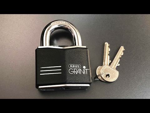 Взлом отмычками ABUS Granit 37/55  [468] Abus Granit 37/55 Padlock Picked and Gutted ()
