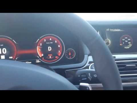 BMW all digital instrument cluster with sports display on. 2014 models