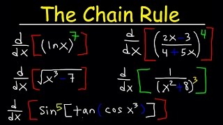 chain rule derivatives square root with trig functions fractions ln calculus examples