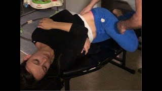 Hard working MOM gets Full Spine CHIROPRACTIC ADJUSTMENT