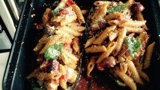 Ricette Da Sballo Barchetta Di Melanzana Ripiena Di Pasta Al Forno Wauuuu
