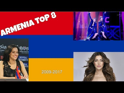 ESC Countries (2009-2017): TOP 8 ARMENIA