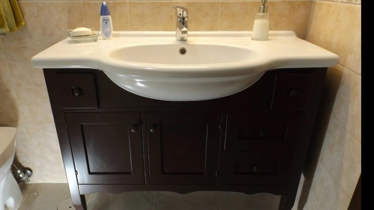 Come restaurare un piccolo mobile del bagno. how to restore a bathroom vanity - YouTube