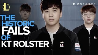 the historic fails of kt rolster lol
