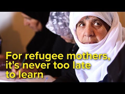 Syrian moms learn to read and write in Lebanon