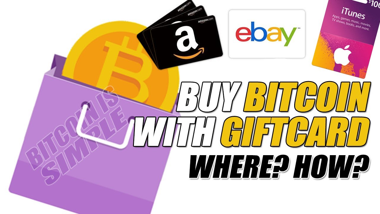 Buy Bitcoin With Gift Card !! Amazon, Ebay, Itunes, Etc