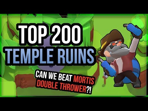 Temple Ruins Top 200 Bounty Gameplay! Can We Beat Mortis Double Thrower?! [Brawl Stars]