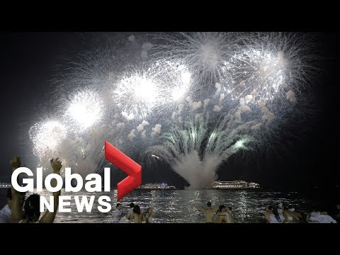 Rio rings in 2019 with a spectacular fireworks display