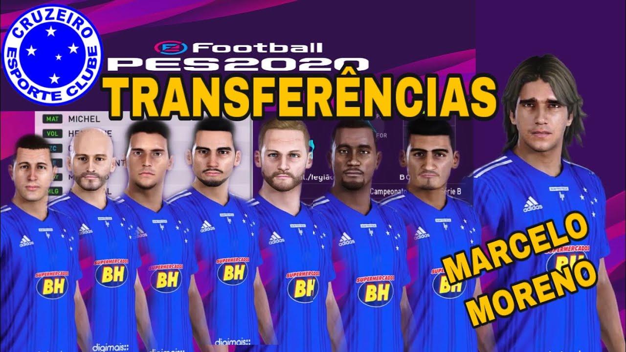 PES 2020 Cruzeiro Transferências 2020 como atualizar elenco #PES2020 #Cruzeiro #MarceloMoreno