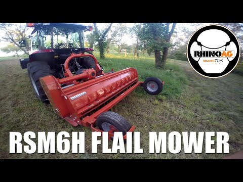 RhinoAG RSM6H Heavy Duty Flail Mower: Cutting Heavy Pasture Grass