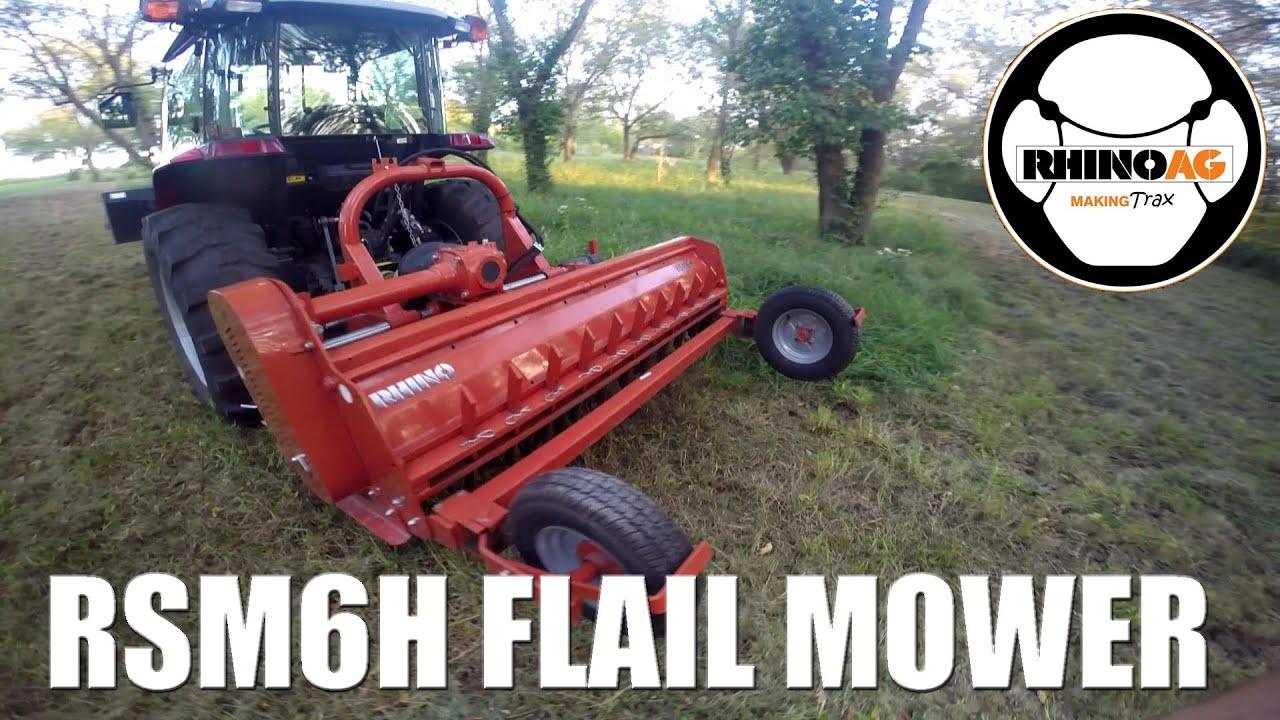 RhinoAG RSM6H Heavy Duty Flail Mower: Cutting Heavy Pasture Grass